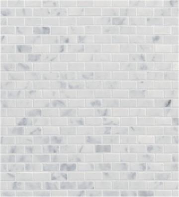 Carrara Mini Brick Mosaic Ann Sacks Tile Amp Stone