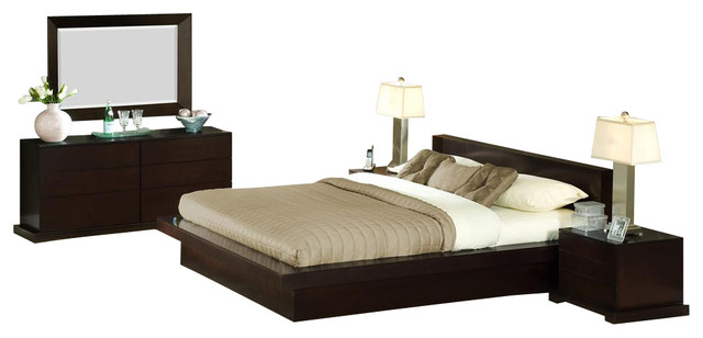 5 piece zurich bedroom set contemporary bedroom for Bedroom furniture zurich