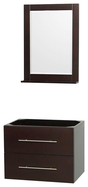 Modern Vanity No Top : Centra quot espresso sgl vanity no top sink mrr