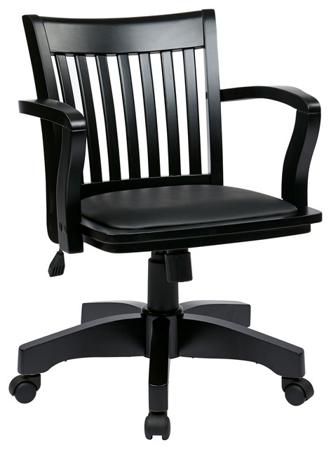 Banker s chair with vinyl padded seat traditional office chairs