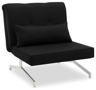 fauteuil convertible bz lit 1 personne noir contemporain. Black Bedroom Furniture Sets. Home Design Ideas