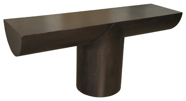 NOIR Furniture T Console in Metal Console Tables by