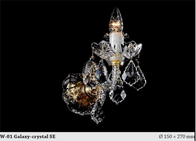 Bohemian Crystal Wall Lights : Bohemian crystal single wall sconce gold - Modern - Chandeliers - hobart - by Murano Art Glass ...