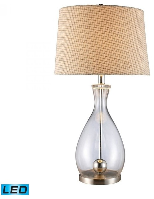 Dimond 1 Light Clear Glass And Chrome Table Lamp Transitional Table Lamps By Lampuniverse
