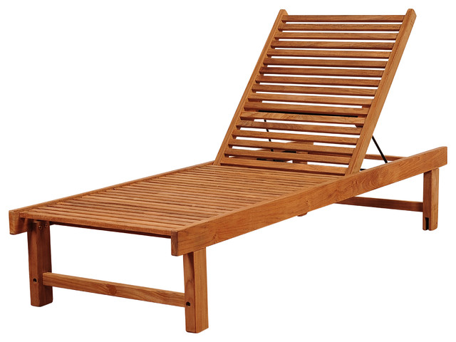 Amazonia Nias Teak Lounger Outdoor Chaise Lounges By International Home M