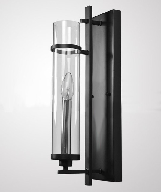 Modern Simple Iron Art and Clear Glass Wall Sconce - Contemporary - Wall Sconces - new york - by ...