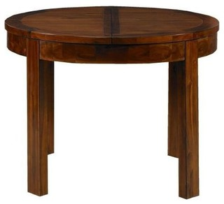 Mark webster kember acacia dining table round extending for Traditional dining table uk