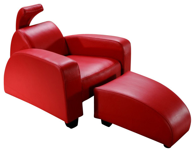 rosso red lounge chair ottoman modern chaise longue. Black Bedroom Furniture Sets. Home Design Ideas
