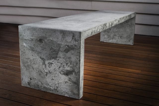 Concrete table contemporary coffee tables brisbane by makimaki furniture works Concrete and wood furniture