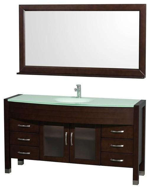 60 In Single Bathroom Vanity Set Contemporary