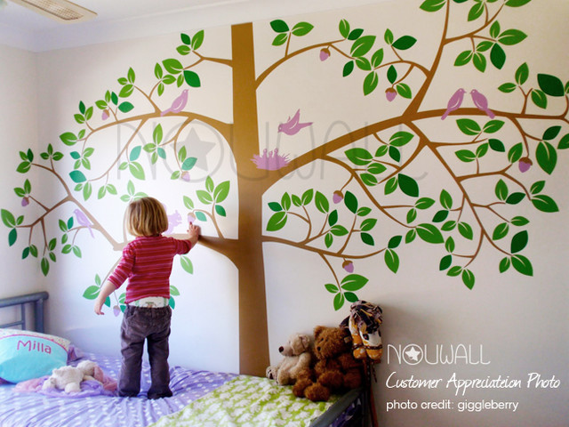 Tree Wall Decal Tropical Kids Decor Los Angeles By