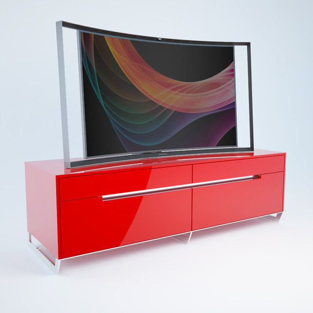 Red Lacquer Media Cabinet – WU301 - Modern - Entertainment Centers And Tv Stands - miami - by ...