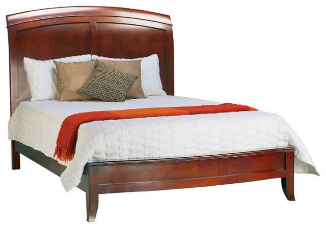 king size wooden sleigh bed contemporary bedroom furniture sets