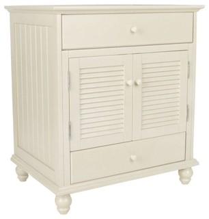 Cottage Vanity Cabinet Only Antique White 30 Wx34 Hx21 5 D Beach Style Bathroom Vanities