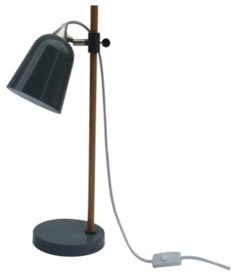 Room Essentials Wood Pole Scholar Light Desk Flat Gray