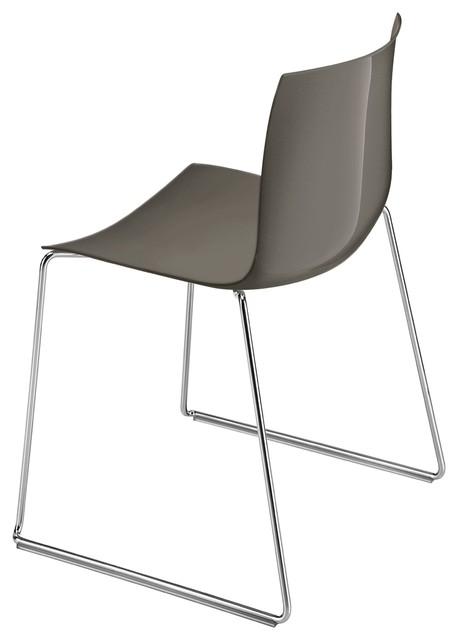 Catifa 46 stuhl mit kufen einfarbig anthrazit bauhaus for Stuhl mit kufen
