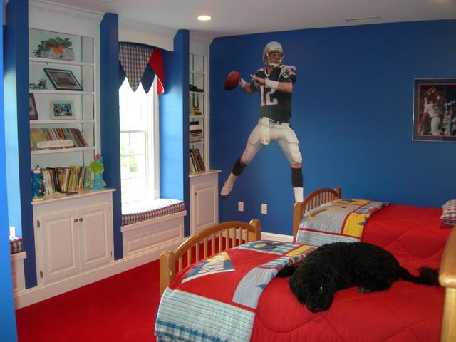 New England Patriots Themed Boys Room Traditional Kids Boston By Cheryl Mccracken