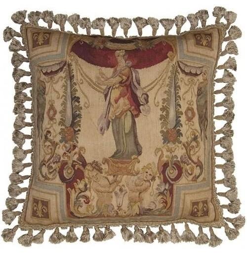 Decorative Victorian Pillows : 22x22 Throw Pillow Flourishes - Victorian - Decorative Pillows