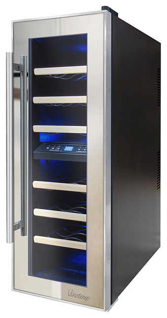 Vinotemp 21-Bottle Thermoelectric Mirrored Wine Cooler ...