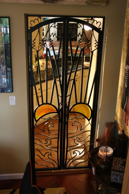 Forge iron designs mediterranean interior doors for Indoor gate design