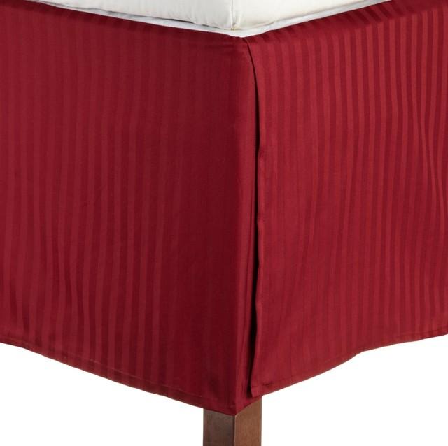 Microfiber 1500 Series Pleated King Bed Skirt Stripe ...