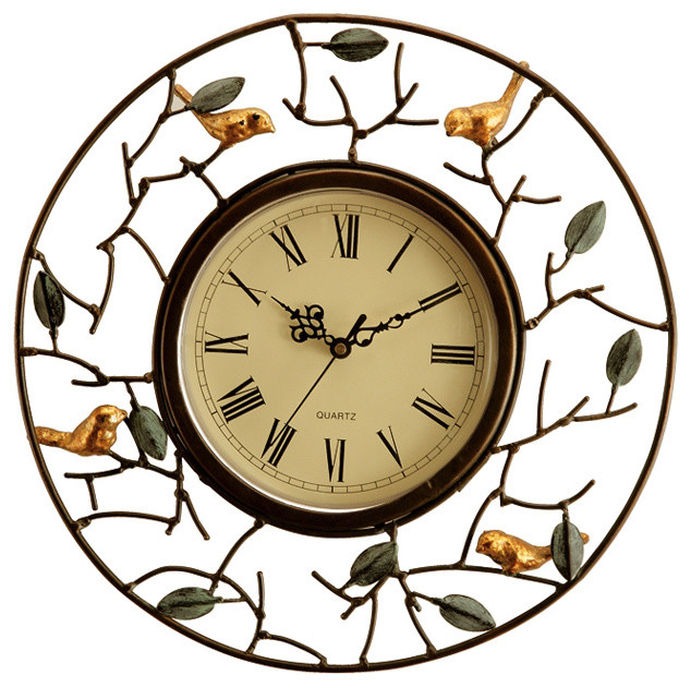 bird wall clock eclectic wall clocks atlanta by