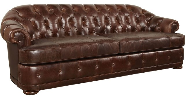 A R T Furniture Kennedy Walnut Chesterfield Sofa Traditional Sofas by Unlimited Furniture