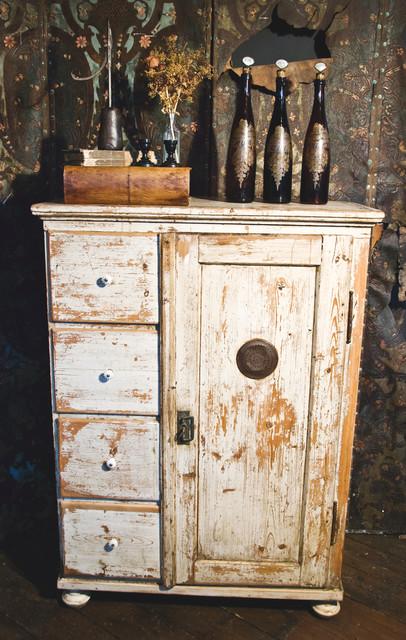 French Pine Larder Cabinet - Rustic - Storage Cabinets ...