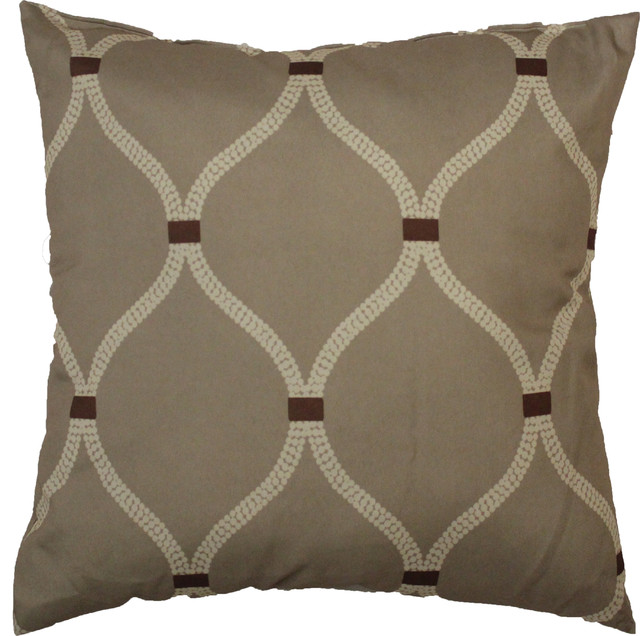 Newport Decorative Two Pack Pillows : Celine Throw Pillow 2-Pack, Taupe traditional-decorative-pillows