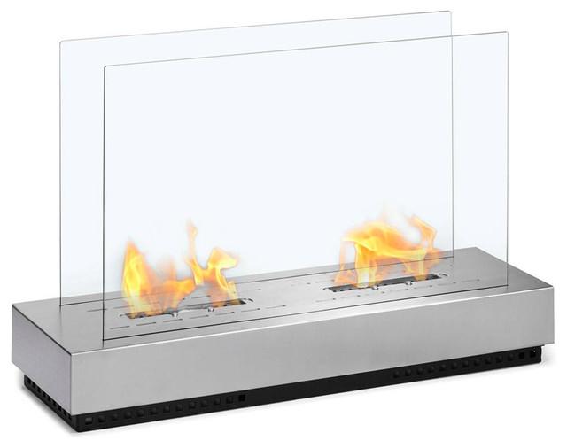 Braga free standing floor indoor outdoor ethanol fireplace for Ethanol outdoor fire pit
