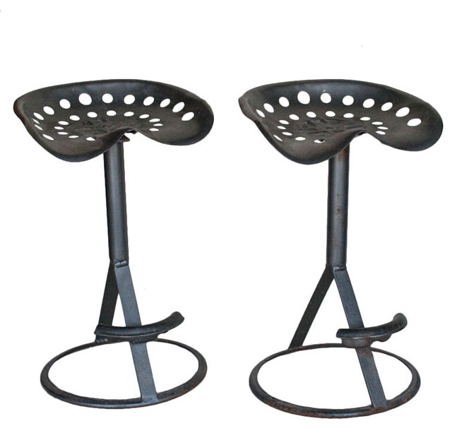 Pair Vintage Tractor Bar Stools Traditional Bar Stools  : traditional bar stools and counter stools from www.houzz.com size 640 x 606 jpeg 53kB