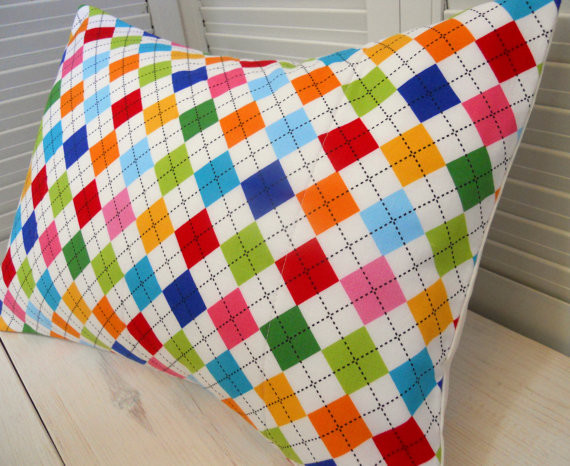 Throw Pillow Cover, Rainbow by The Red Pistachio - Modern - Decorative Pillows - by Etsy