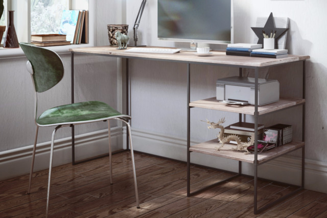 Schreibtisch simple contemporain meuble bureau et for Meuble bureau contemporain