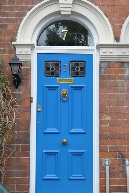 Gold house numbers traditional front doors other for Window number