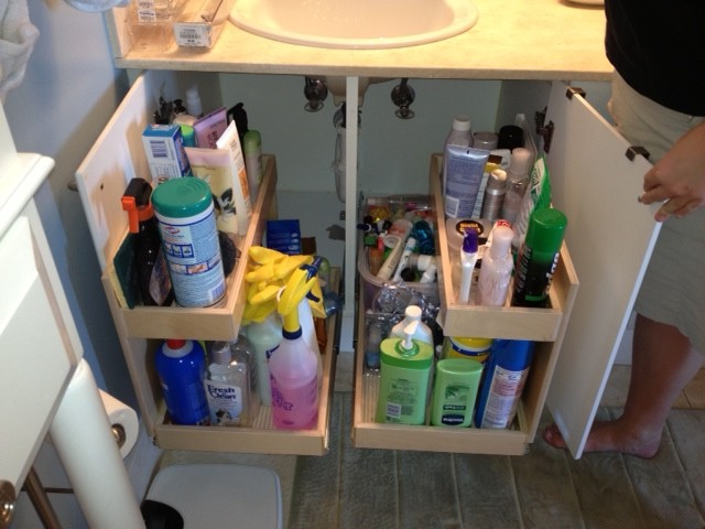 Under Sink Pull Out Shelves - Bathroom Cabinets And Shelves - miami ...