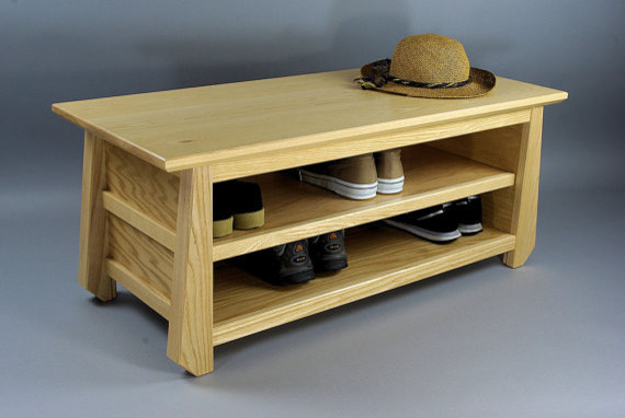 Japanese Tansu Style Shoe Storage Bench by Woodistry - Asian - Accent And Storage Benches - by Etsy