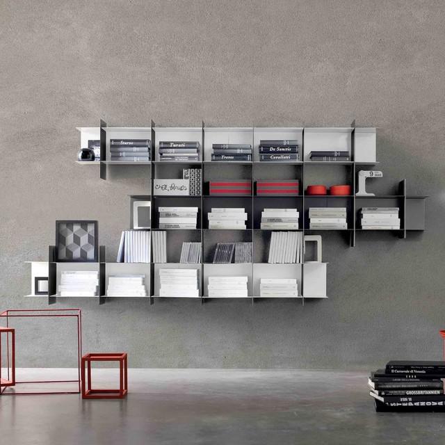 39 intrecci v 39 minimalist wall mounted bookshelf by for Modern minimalist bookcase