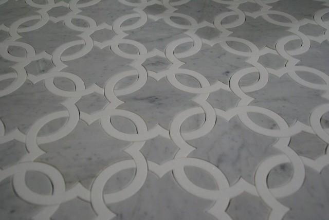 Clover Leaf Floor Pattern Modern Tile New York By