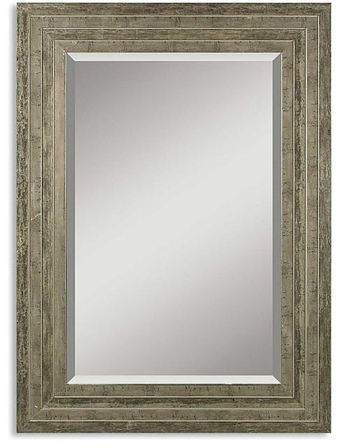 Hallmar distressed silver wood framed mirror for 360 salon dearborn