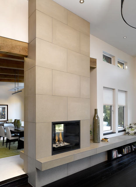Concrete Fireplace Tiles Modern Dallas By Solus
