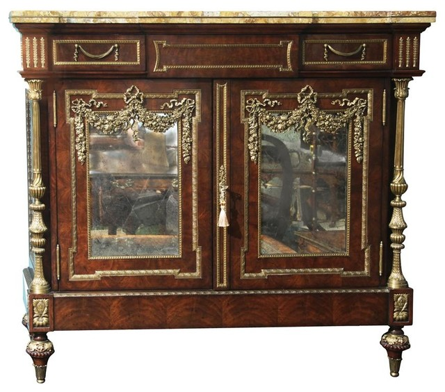 french dining room server or side cabinet with brass mounting buffets
