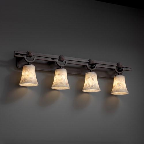 Houzz Bathroom Lighting Fixtures: Alabaster Rocks! Argyle Four-Light Dark Bronze Bath