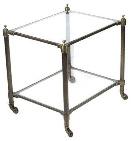 Restoration hardware brass side table modern for Restoration hardware bedside tables