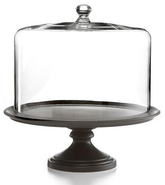 Martha Stewart Black Ceramic Cake Stand