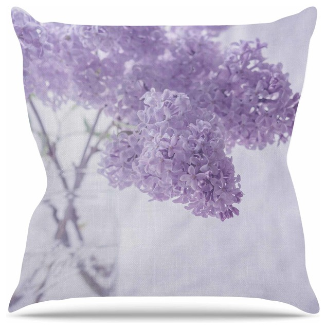 Lilac Floral Throw Pillow : Suzanne Harford