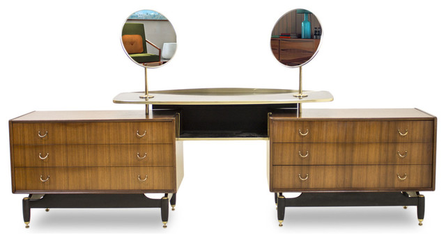 Consigned g plan tola dressing table vanity midcentury for G plan bedroom furniture dressing tables