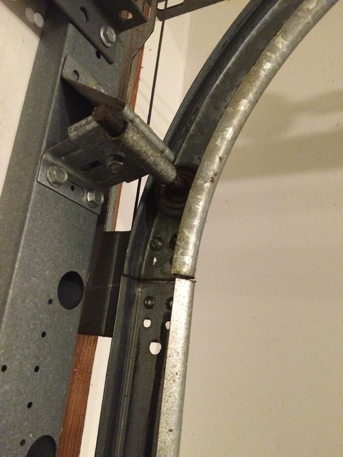 Garage door starting to wobble track angle bracket bent - Garage door angle bracket ...