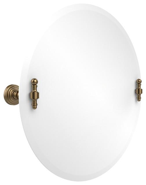 22 Round Tilt Mirror Brushed Bronze Transitional Bathroom Mirrors By Avondale Decor Llc