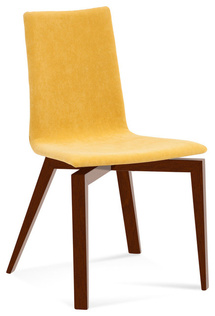 Slip U Upholstered Plyshell Maple Dining Chair Harvest Galaxy Contempora