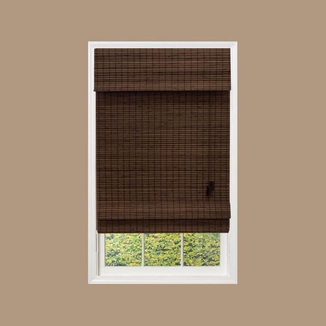 Home Decorators Collection Blinds Shades Cut To Width Espresso Brown Contemporary Roman